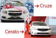 so sánh xe chevrolet cruze và kia cerato