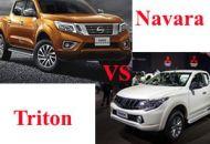 so sánh xe Nissan Navara và mitsubishi triton