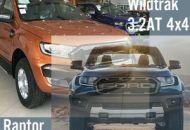 So sánh ranger raptor và ranger wildtrak