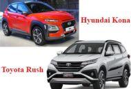 so sánh Toyota Kona và Toyota Rush