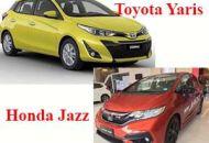 So sánh HOnda jazz và Yaris