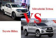 so sánh Mitsubishi Triton và Toyota Hilux