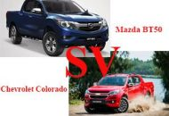 so sánh Mazda BT50 và Chevrolet Colorado
