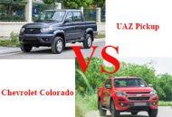 so sánh UAZ Pickup và Chevrolet Colorado
