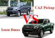 So sánh UAZ Pickup và Isuzu Dmax