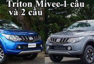 So sánh Mitsubishi Triton Mivec 1 cầu và 2 cầu