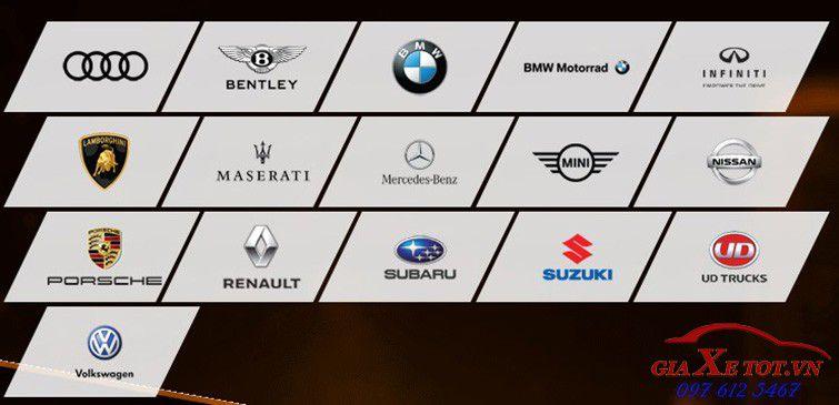 các thương hiệu xe tại triển lãm ô tô quốc tế việt nam