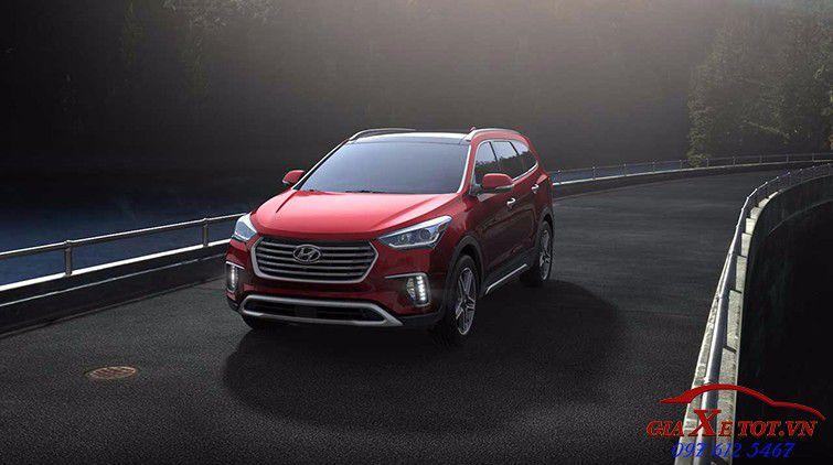 Hyundai santafe 2017 màu đỏ