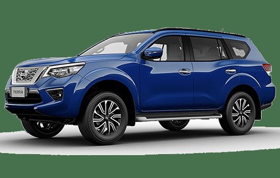 báo giá Nissan Terra màu xanh đậm