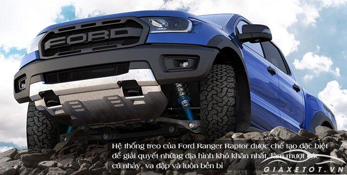 đánh giá ngoại thất xe ford ranger raptor