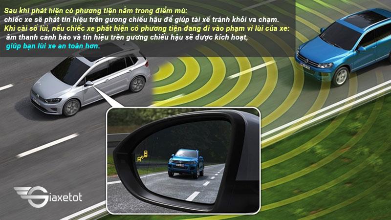 hệ thống cảnh báo điểm mù an toàn trên ô tô
