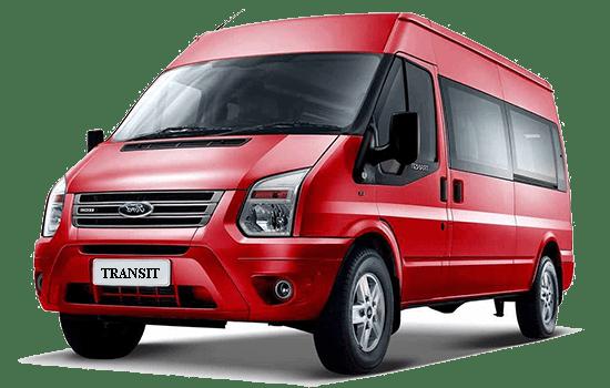 báo giá xe ford transit màu đỏ 2019