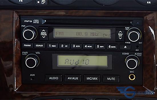 hệ thống âm thanh giải trí hyundai county 2019