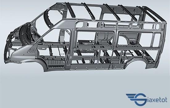 khung xe ford transit 2019