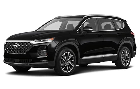 hyundai santafe màu đen 2019