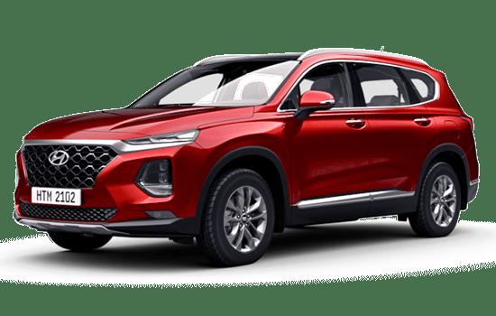 hyundai santafe màu đỏ 2019