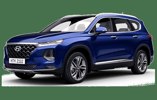 hyundai santafe màu xanh 2019