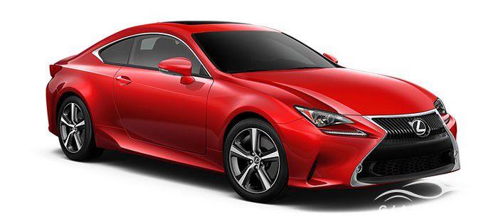 Lexus RC màu đỏ