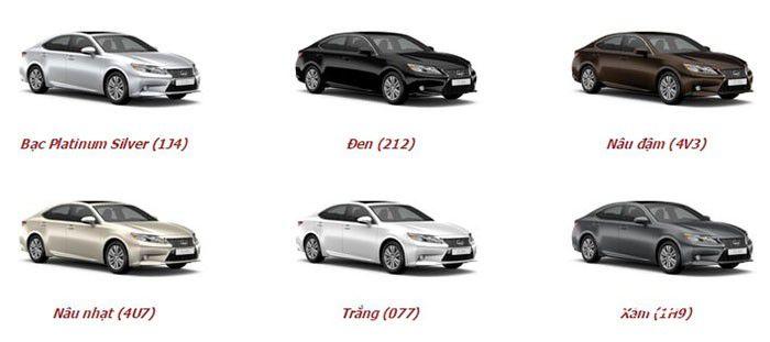 Màu xe Lexus ES