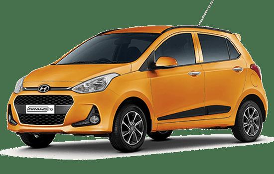 hyundai i10 hatchback 2019 màu cam