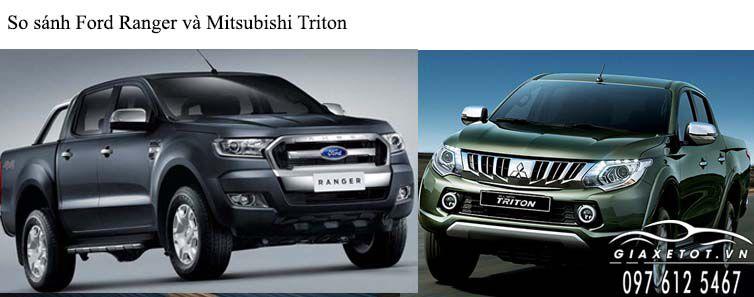 so sánh ford ranger và triton