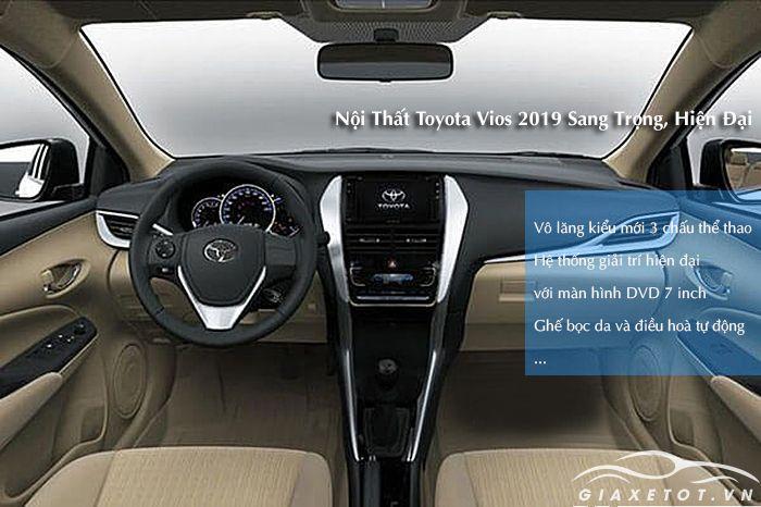 Nội thất Toyota Vios 2019